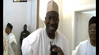 President Jonathan visits Ibrahim Babangida on 26th of December