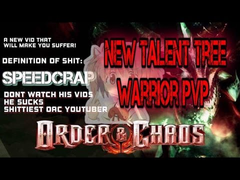 Order And Chaos Online - Warrior PvP - New Talent Tree