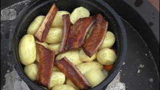 Kociołek ogniskowy ,  mięsno - warzywny - Praktyka u Praktyka