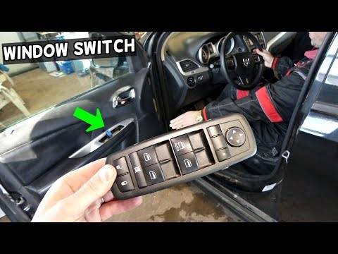 DODGE JOURNEY MASTER WINDOW SWITCH REPLACEMENT REMOVAL FIAT FREEMONT