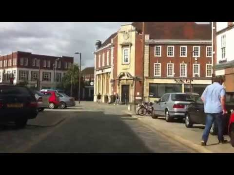 Driving around Letchworth Town Centre