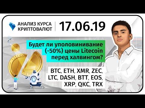 Будет ли уполовинивание (-50%) цены Litecoin перед халвингом?! Прогноз криптовалют. 17.06.2019.