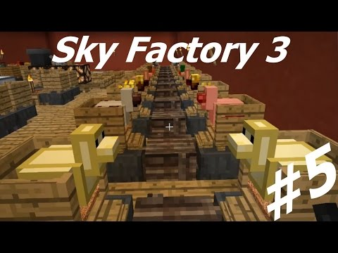 Sky Factory 3 Let's Play Ep 5: Chickens and Auto-Farms