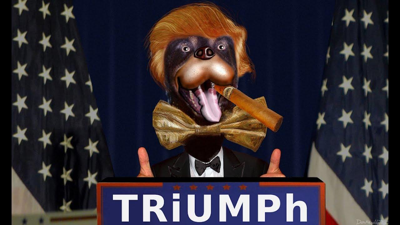 triumph the insult comic dog: trans bathrooms commercialstrump