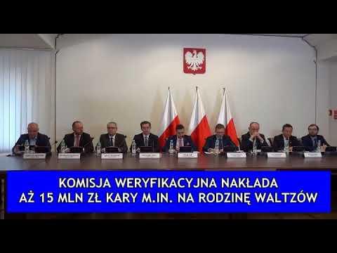 Komisja Weryfikacyjna nakłada 15 mln zł kary m.in. na rodzinę Waltzów!