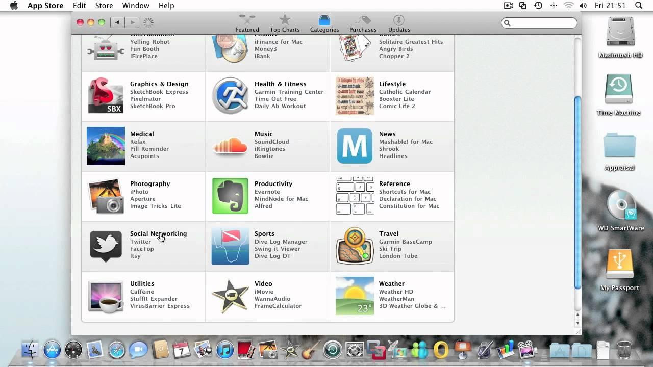 App Store Mac Os X 10 6 6 Youtube