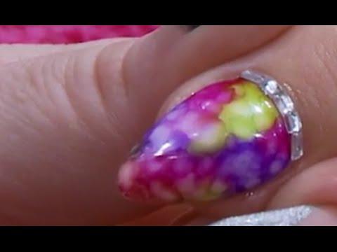 Tie Dye Sharpie Design Acrylic Nail Kirsty Meakin Naio Nails You