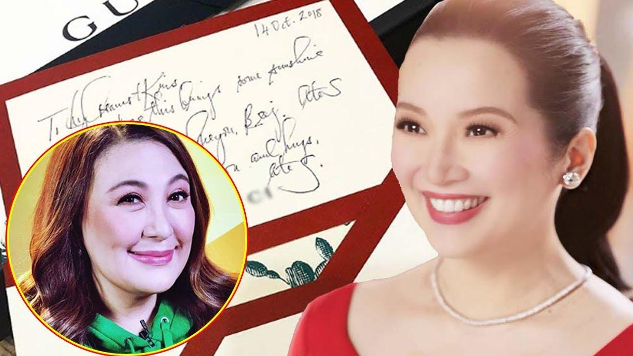 94159ae1c396 Sharon Cuneta Expensive Gift To Kris Aquino, Netizens React - YouTube
