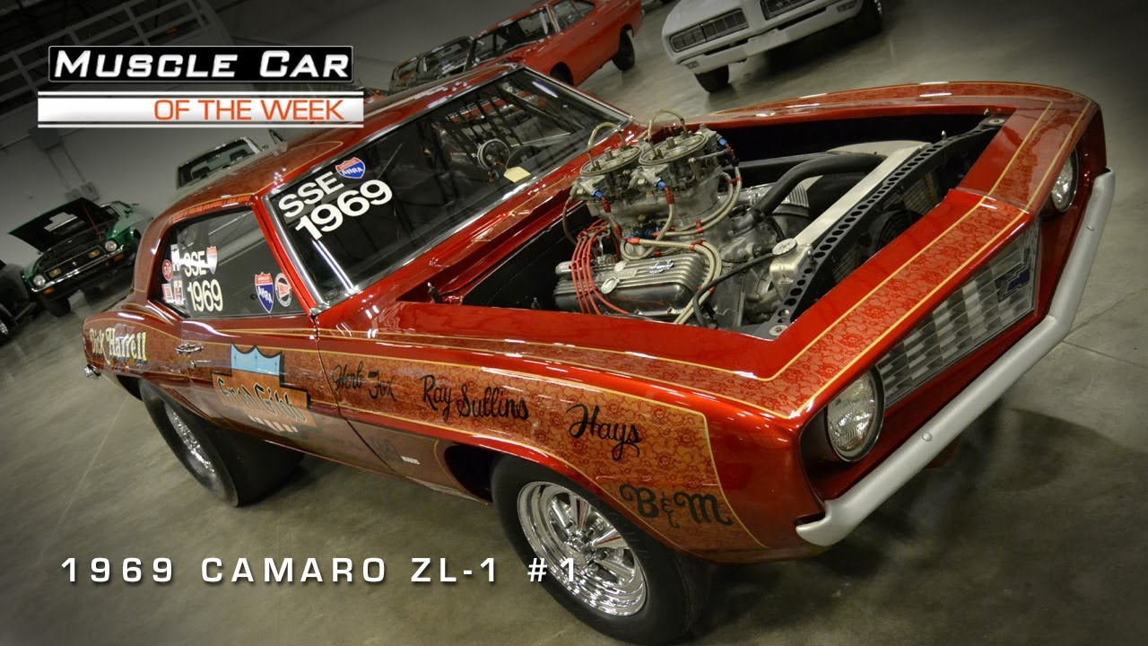 Muscle Car Of The Week Video 1: 1969 Camaro ZL-1 1!