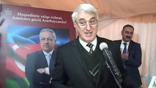 115 saylı Şəki kənd ikinci seçki dairəsindən deputat seçilən Cavanşir Feyziyevin seçicilərlə görüşü