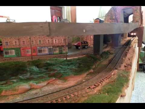 My little train models layout in Baghdad Iraq