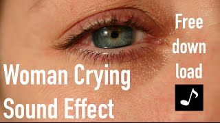 Woman Crying Sound Effect