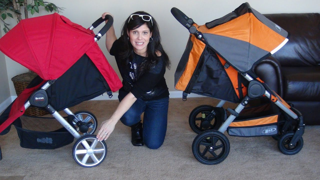 Bob Motion Vs Britax B Agile Side By Side Comparison Youtube