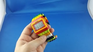 ✅ 5$ LEGO led watch from AliExpress Unboxing haul euro app