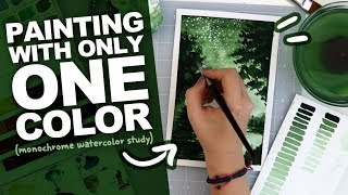 NOT EASY BEING GREEN? | Monochromatic Watercolor Study | Painting with Only One Color