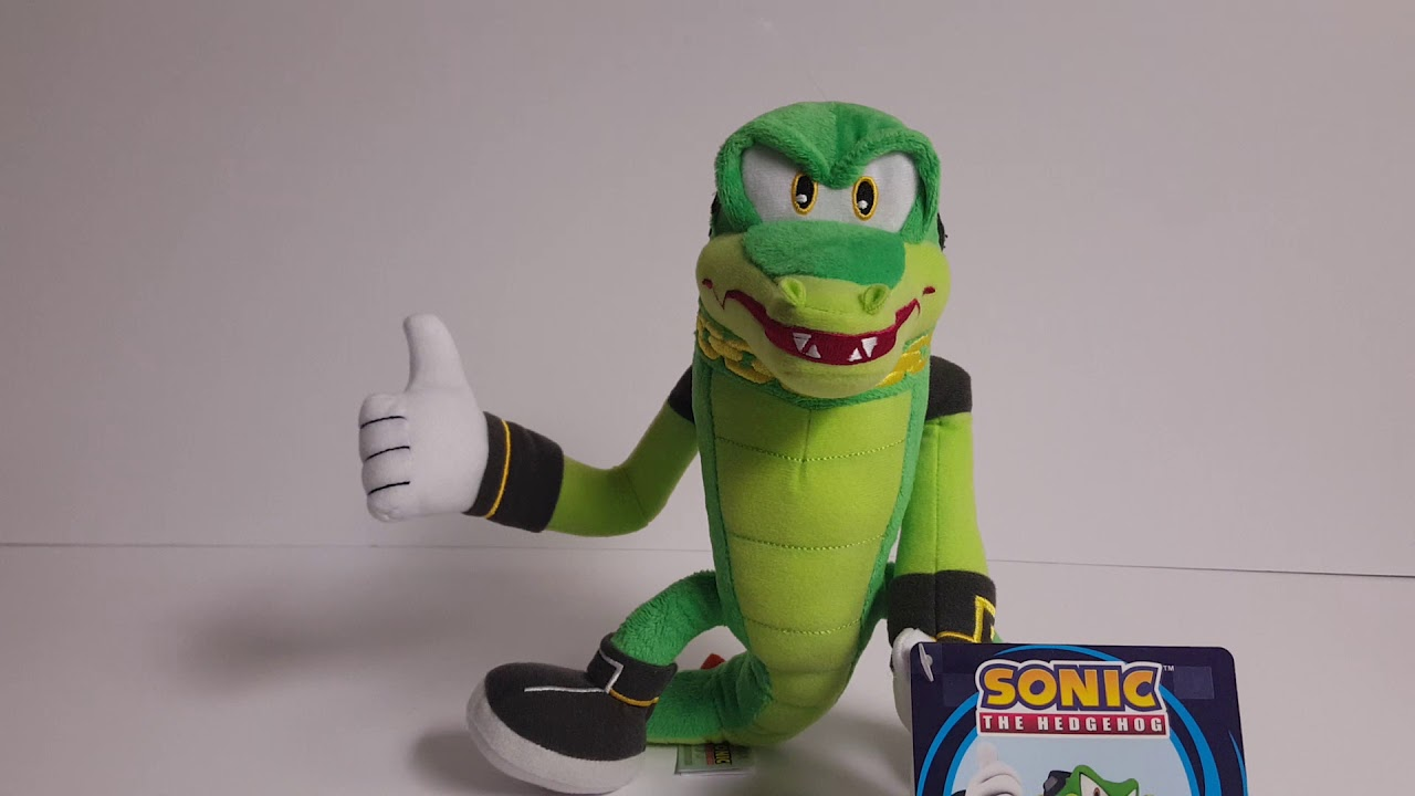 Tomy Sonic The Hedgehog Collector S Series 8 Modern Vector The Crocodile Plush Review Youtube