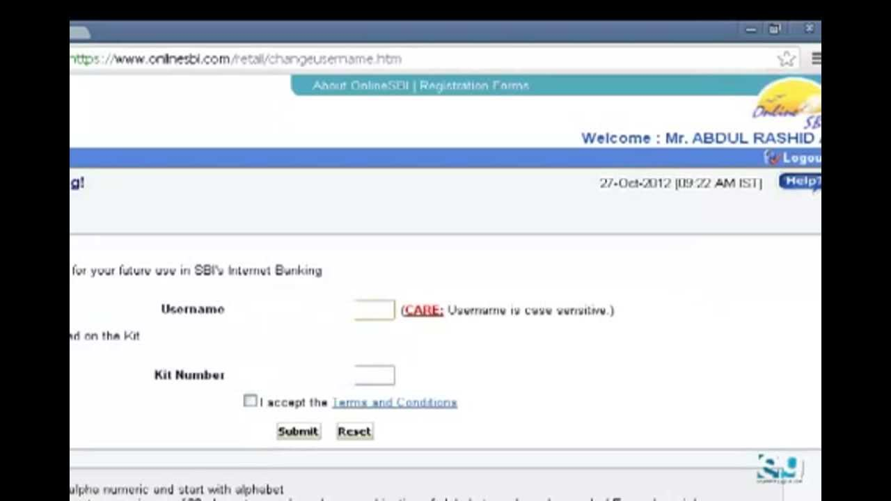 how to create sbi online net banking