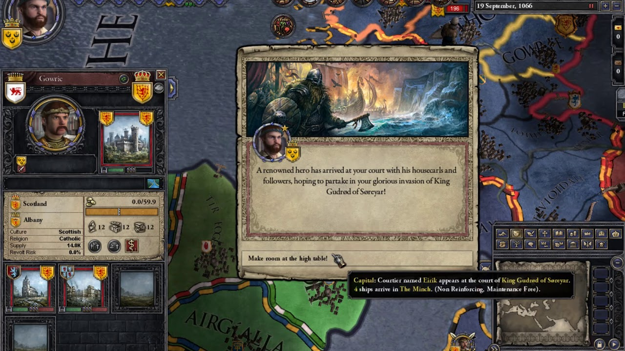 Crusader Kings 2 Game Cheat - Declare war and get Huge Army to win