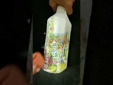 diy|-decoupage-on-bottle