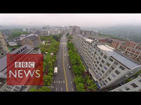 China: Drone tour of Wuxi New Town  - BBC News