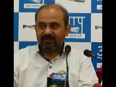 Press Conference by Aam Aadmi Party Leaders Dilip Pandey,  Atishi Marlena n Deepak Bajpai
