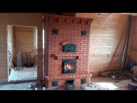 Отопительная кирпичная печь Гжелка