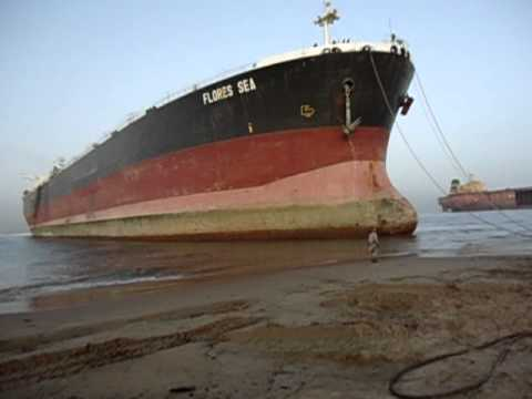 "Ship Beaching at Gaddani M. T. ""FLORES SEA"""