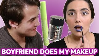 "Here is Tyler's contribution to the annals of the ""Boyfriend Does My Makeup"" videos. I think his makeup look was OUT OF THIS WORLD....meheh sorry. THANK ..."