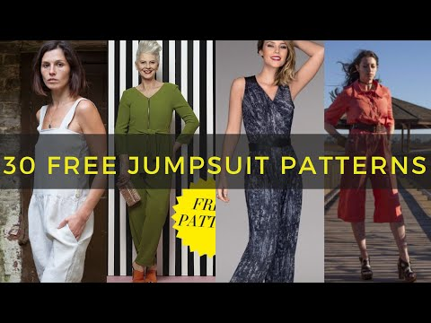 30 Free Jumpsuit, Romper And Overall Patterns You May Have Missed!