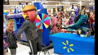 Walmart Fortnite Toys Dance Event - Fortnite Toy Hunt - FREE Fortnite Spray Giveaway