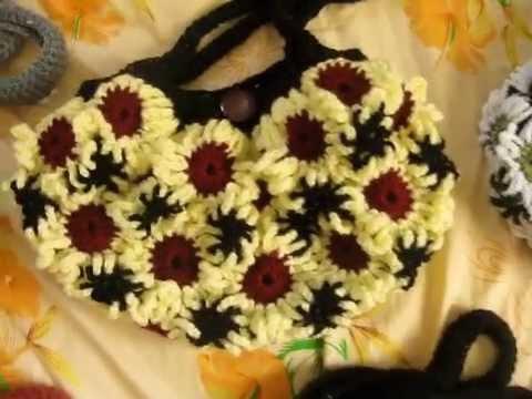 Crochet Flower Purses 2 Youtube