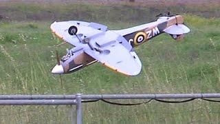 RC Spitfire crash at SCCMAS