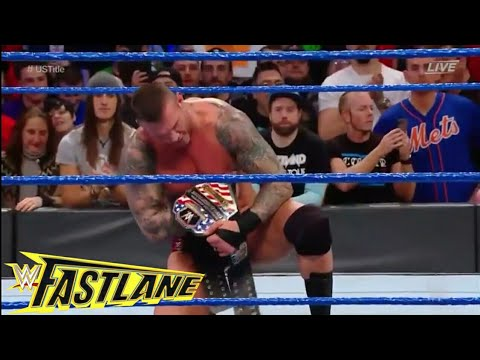 Randy Orton Vs Bobby Roode For U.S Title - WWE Fastlane Highlight 11th March 2018