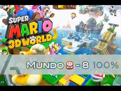 Super Mario 3D World | Mundo Flor-8 (100% Walkthrough)
