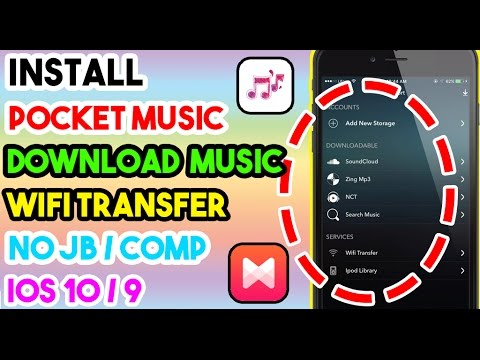 New Install Pocket Music & Download Music No JB/Comp On iOS 10/10.1.1/9 To 9.3.5 On iPhone/iPod/iPad