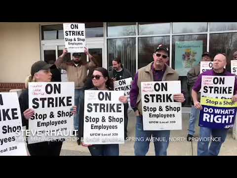 Workers strike at Stop & Shop North Providence