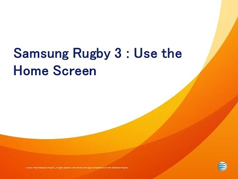Samsung Rugby 3: Use the Home Screen