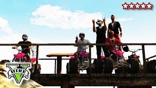 GTA 5 ATV JUMPS and STUNTS!! - Quad Bike Crew FreeRoaming GTA - Grand Theft Auto 5