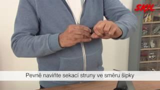 Jak převinout cívku strunové sekačky?