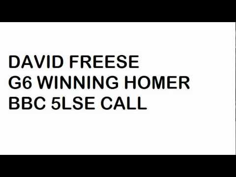 Freese home run BBC call