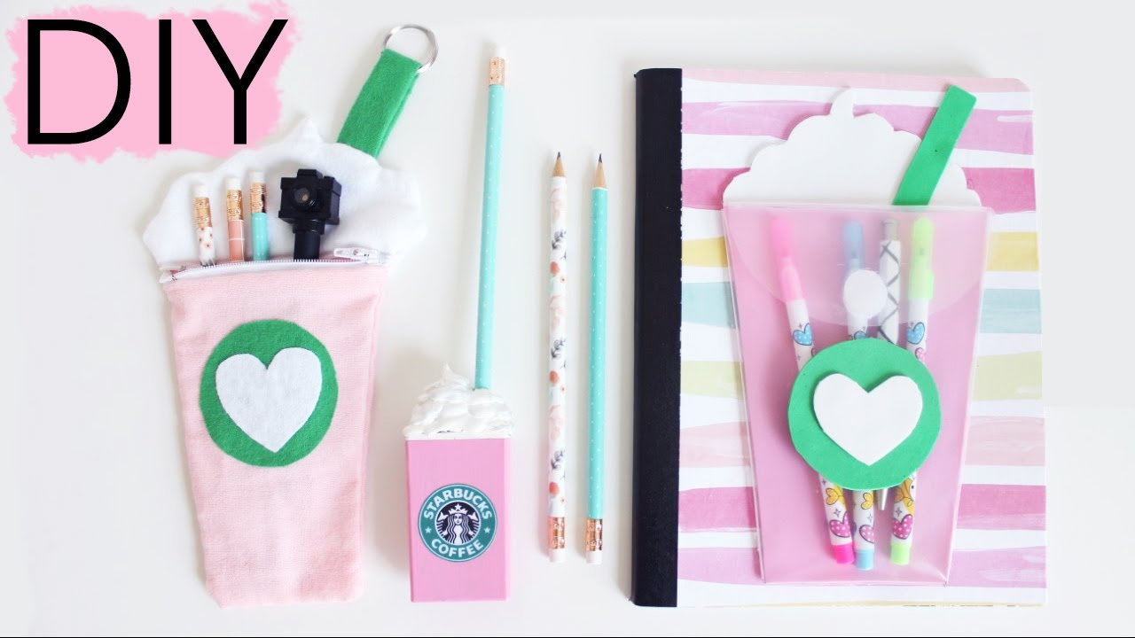 Superior Diy School Part - 4: DIY Starbucks School Supplies - Back To School