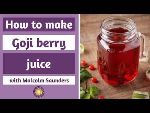 How To Make Goji Juice Youtube