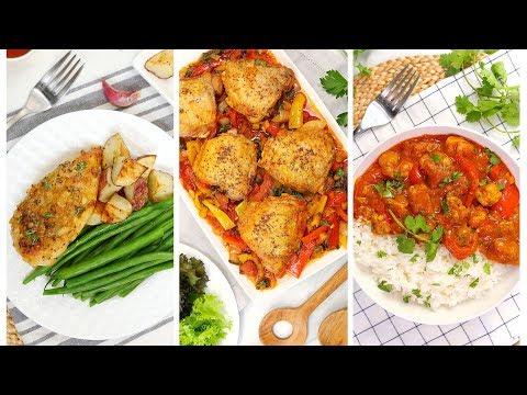 3 Easy Chicken Dinner Recipes | Quick + Healthy Weeknight Dinner Recipes