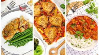 3 Easy Chicken Dinner Recipes | Quick + Healthy Weeknight Dinner Recipes