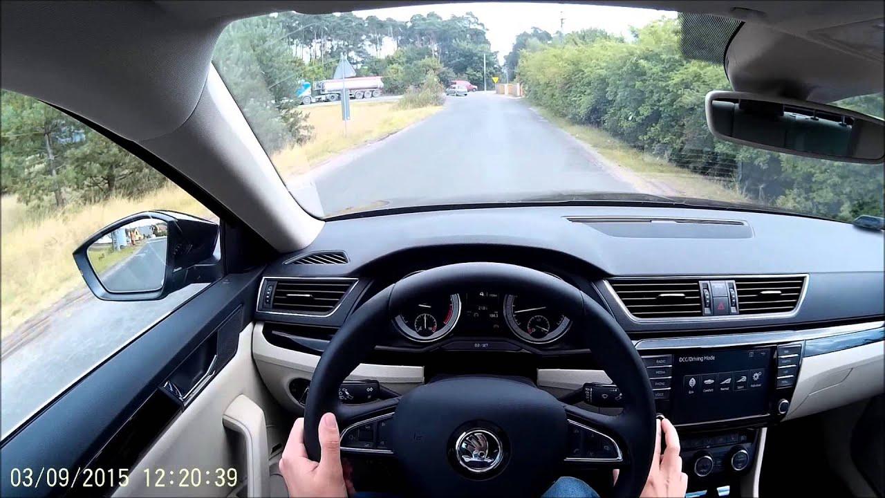 test drive skoda superb