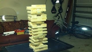 How to make a giant game of Jenga