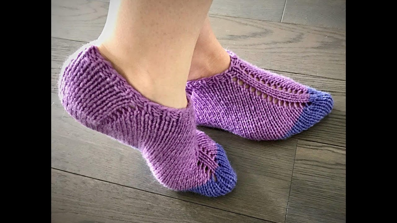 Easy Knit Slippers Pattern Tutorial Youtube