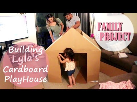 Family Building A House Together | How To Build A Playhouse