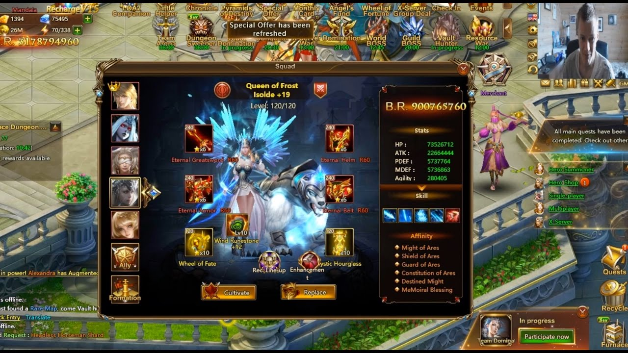 Download CHALLENGERS ROAD ON MANDALA (STRONGEST ACCOUNT IN GAME) in League of Angels 2