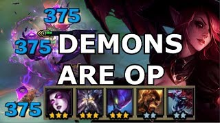 DEMONS are TOP OP META CHAMPIONS - Teamfight Tactics TFT DEMON + VOID Comp Build Strategy Guide lol